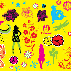 Pop Art Graphics - Free vector #220421