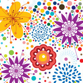 Vector Floral Pattern Background - Kostenloses vector #220461