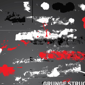 Grunge Illustration Vector Art Pack - Free vector #220741