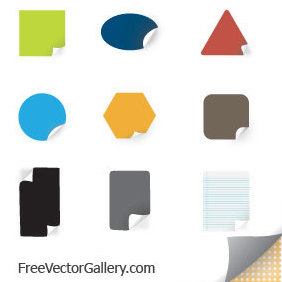 Color Stickers - бесплатный vector #220791