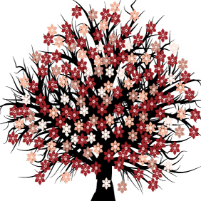 Free Vector Blossom Tree - Free vector #220861