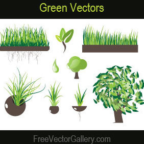 Green Vectors - vector gratuit #220911