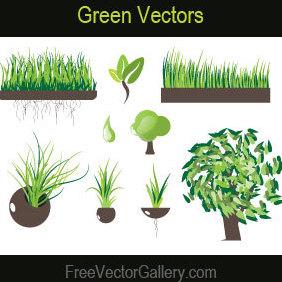Green Vectors - Kostenloses vector #220911