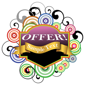 Offer Text Banner - Free vector #220941
