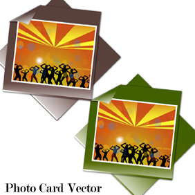 Photo Card Vector - vector gratuit #221181