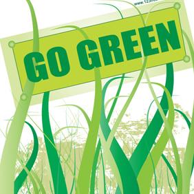 Go Green Vector - vector gratuit #221201