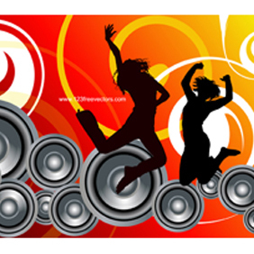 Music Background Vector - vector gratuit #221241