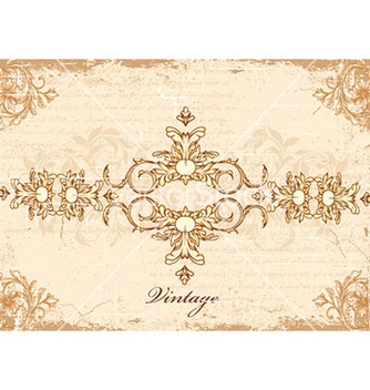 Free vintage frame with floral vector - Free vector #221251