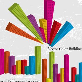 Vector Color Buildings - Free vector #221301
