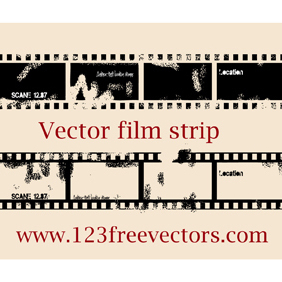 Vector Film Strip - vector gratuit #221381