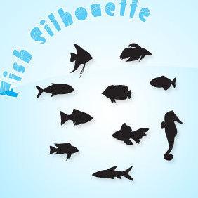 Fish Silhouette - vector #221411 gratis