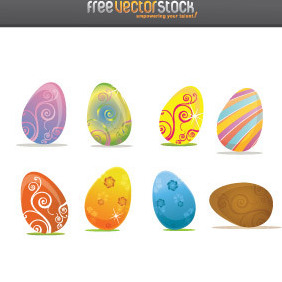 Happy Easter Eggs - vector gratuit #221451