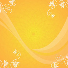 Orange Flowers - vector gratuit #221501