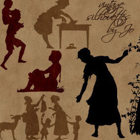 % Vintage Silhouettes - Free vector #221571