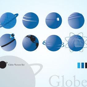 Globe Vectors - бесплатный vector #221631