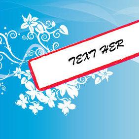 Swirly Banner - Free vector #221681