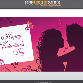 Happy Valentine's Day Greeting Card - vector gratuit #221691