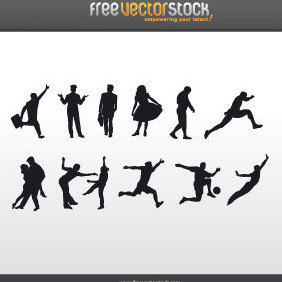 People Silhouettes - Free vector #221731