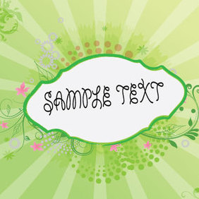 The Green Banner - vector gratuit #221751