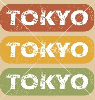 Free vintage tokyo stamp set vector - Free vector #221831