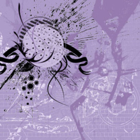 Abstract Violet Grunge Background - vector #221851 gratis
