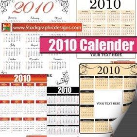 2010 Free Vector Calendar - Free vector #221881