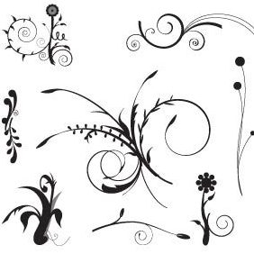Floral Set - Free vector #221991