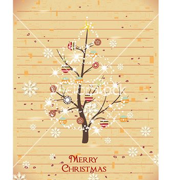 Free christmas with christmas tree vector - vector gratuit #222061