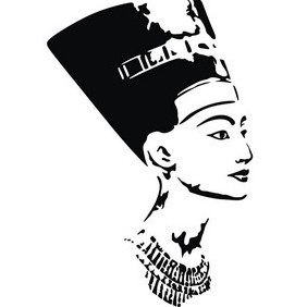 Beautiful Nefertiti - vector gratuit #222071