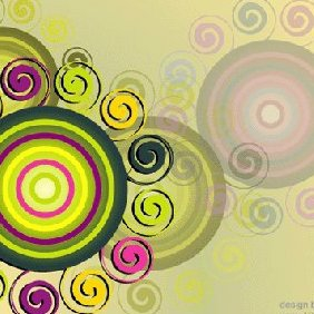 Swirl & Circle Background - vector #222101 gratis
