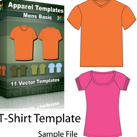 Vector T-shirt Template - Free vector #222141