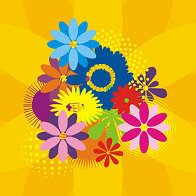 Flower Design - vector gratuit #222211