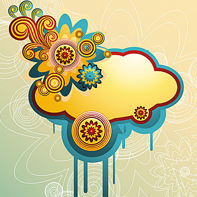 Colorful Cloud - vector gratuit #222261