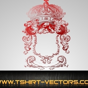 Royal Crest W Optional Crown - бесплатный vector #222351