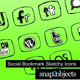 Social Bookmark Sketchy Icons - Free vector #222711
