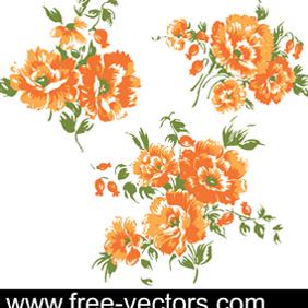 Flower Vectors - Free vector #222831