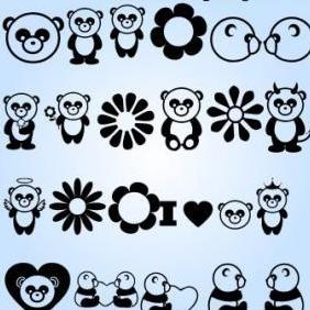 Panda Vectors - Free vector #223071