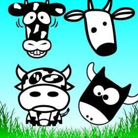 Cows - vector #223101 gratis