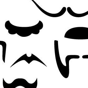 Mustache And Beard Pack 2 - Free vector #223211