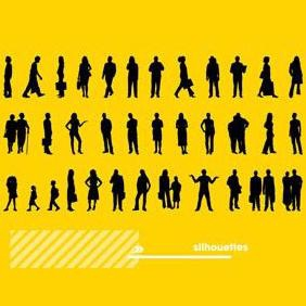 Human Silhouettes - Free vector #223421