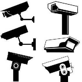 Cctv Camera Vector Graphics - бесплатный vector #223541