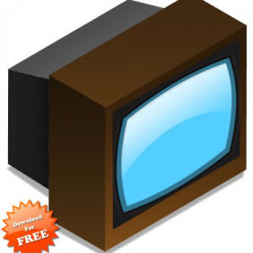 Tv Set - vector gratuit #223631