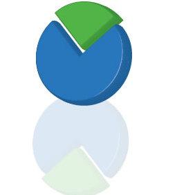3d Pie Chart Vector - Kostenloses vector #223661