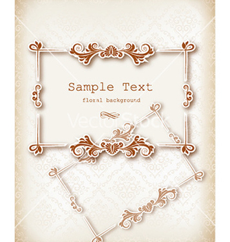Free floral frame vector - Free vector #223881