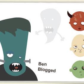 Halloween Heads Vector - Kostenloses vector #223921
