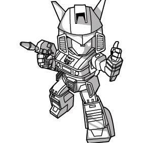 Auto Deformed Robot - Free vector #224111