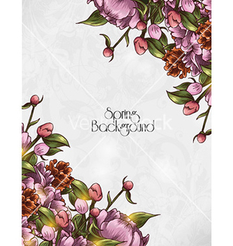 Free floral background vector - Free vector #224361