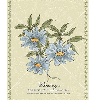 Free grunge floral frame vector - Free vector #224451