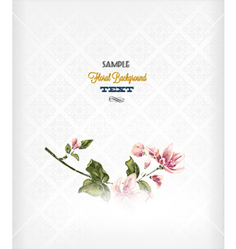 Free floral background vector - Free vector #224641