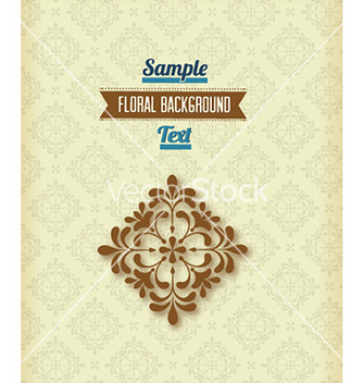 Free floral background vector - Free vector #224981